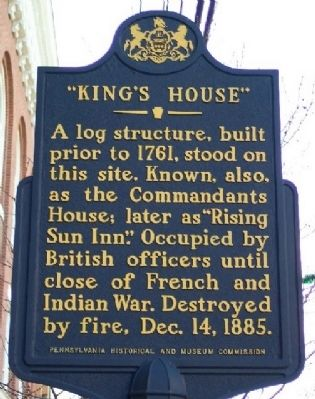 """King's House"" Marker image. Click for full size."