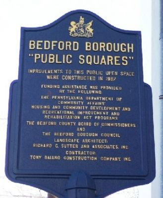 "Bedford Boroughs ""Public Squares"" Marker image. Click for full size."