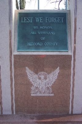 Bedford County Veterans Memorial image. Click for full size.