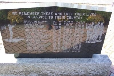Bedford County Vietnam Veterans Memorial Honored Dead image. Click for full size.