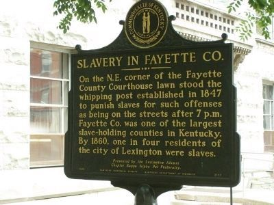 Slavery in Fayette Co. Marker image. Click for full size.