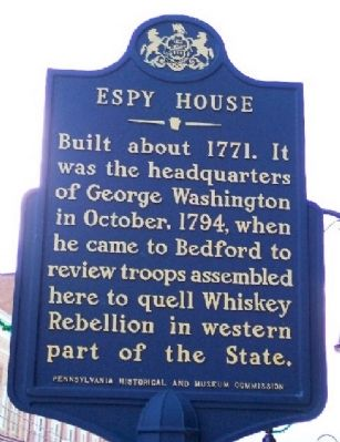 Espy House Marker image. Click for full size.