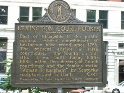 Lexington Courthouses Marker image. Click for full size.
