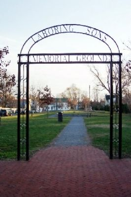 Laboring Sons Memorial Ground Entrance image. Click for full size.