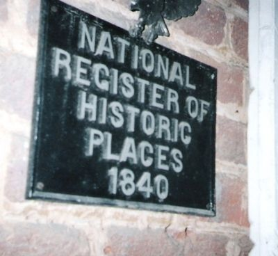 National Listing of Historic Places Marker of Cavender General Store image. Click for full size.