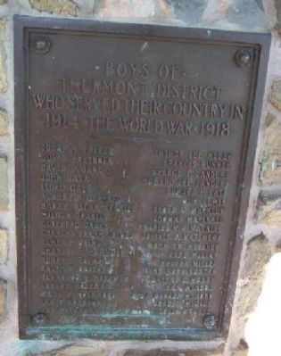 World War I Service Marker F - P image. Click for full size.