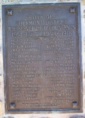 World War I Service Marker A - F image. Click for full size.