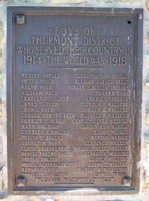World War I Service Marker P - Z image. Click for full size.