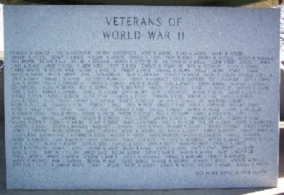 World War II Veterans Marker A - M image. Click for full size.
