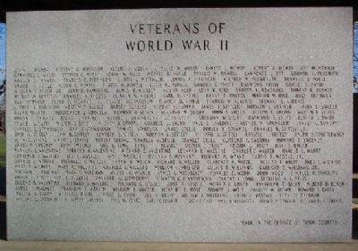 World War II Veterans Marker M - Z image. Click for full size.