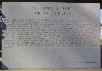 Korean Conflict Veterans Marker image. Click for full size.