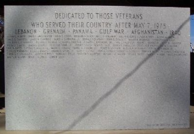 Post May 7, 1975 Veterans Marker image. Click for full size.