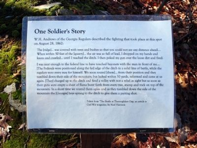 One Soldier's Story image. Click for full size.