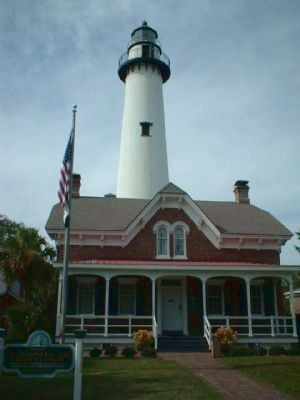 Couper's Point , St Simons' lighthouse as seen today image. Click for full size.