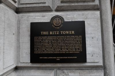Ritz Tower Marker image. Click for full size.