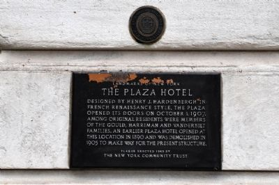 Plaza Hotel Marker image. Click for full size.