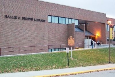 Hallie Quinn Brown Library and Marker image. Click for full size.