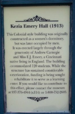 Kezia Emery Hall (1913) Marker image. Click for full size.
