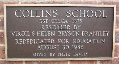 Collins School Marker image. Click for full size.