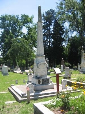 John Bigler Burial Monument image. Click for more information.