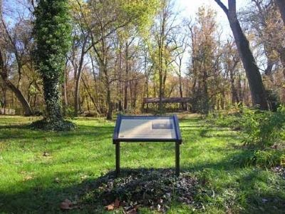 Palmer Lot Marker in Bradburn Park image. Click for full size.