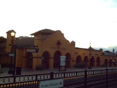 Burlingame Train Station and Marker image. Click for full size.