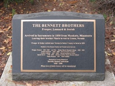 The Bennett Brothers Marker image. Click for full size.