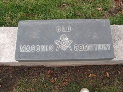 Old Masonic Cemetery Marker image. Click for full size.
