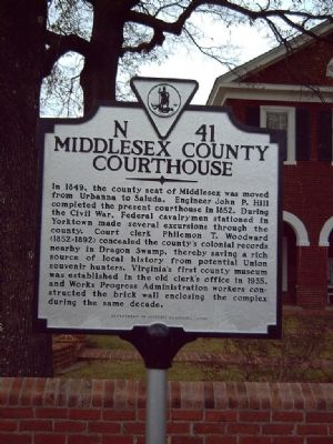 Middlesex County Courthouse Marker image. Click for full size.