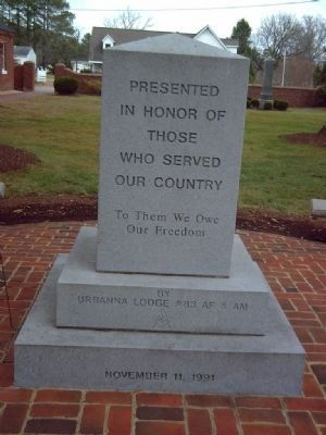 Middlesex County Veteran&#39;s Memorial Marker </b>West face image. Click for full size.