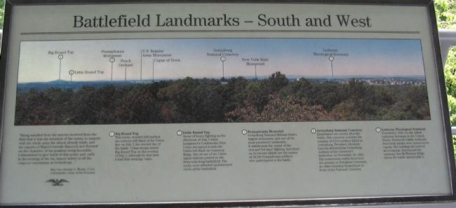 Battlefield Landmarks - South and West Marker image. Click for full size.