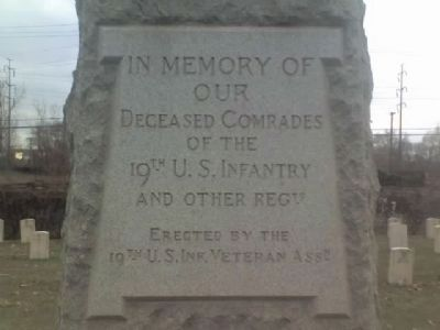 19th U. S. Infantry Marker image. Click for full size.