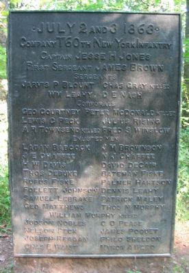"Company ""I"", 60th New York Infantry Monument image. Click for full size."