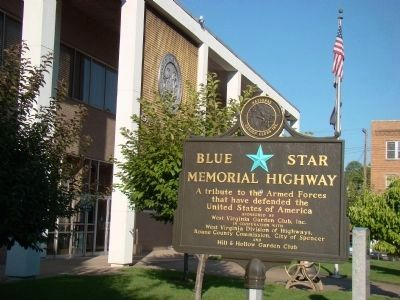 Nearby Blue Star Memorial Highway image. Click for full size.