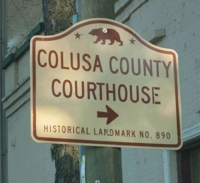 Colusa County Courthouse State Landmark Directional Sign image. Click for full size.