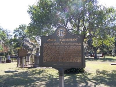 James Habersham Marker, at Colonial Park Cemetery, Savannah image. Click for full size.
