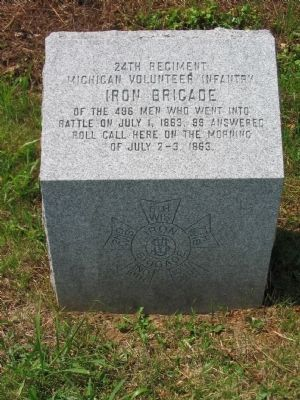 24th Regiment Michigan Volunteer Infantry Position Marker image. Click for full size.