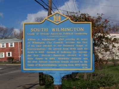 South Wilmington Marker image. Click for full size.