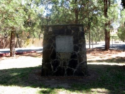 Pioneer Monument Marker (Back of Base) image. Click for full size.