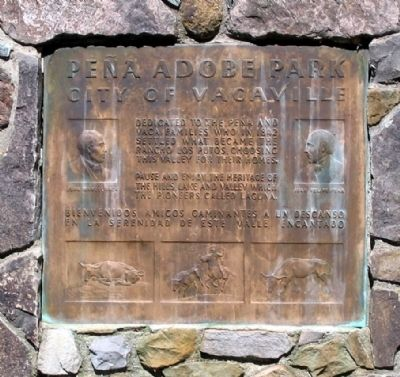 Peña Adobe Park Marker image. Click for full size.