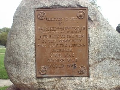 Civil War /Spanish War /World War Marker image. Click for full size.