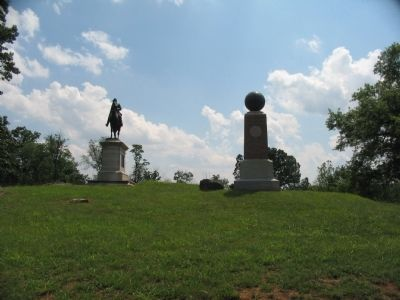 Stevens' Battery and the Slocum Monuments image. Click for full size.