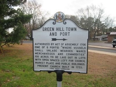Green Hill Town and Port Marker image. Click for full size.