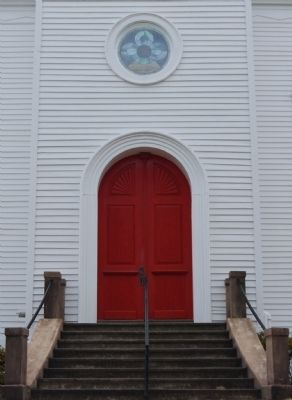 St. John's Lutheran Church - Front Door Detail image. Click for full size.
