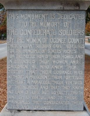 Oconee County Confederate Monument - East Side image. Click for full size.