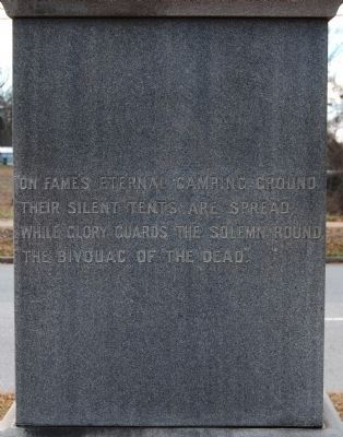 Oconee County Confederate Monument - North Side image. Click for full size.