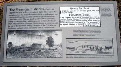 The Freestone Fisheries Marker image. Click for full size.