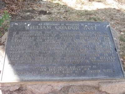 William Gordon Huff Marker image. Click for full size.
