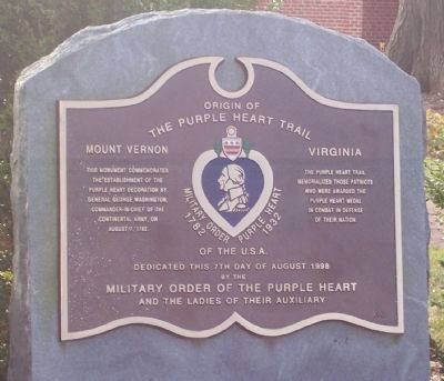 Origin of the Purple Heart Trail Marker image. Click for full size.