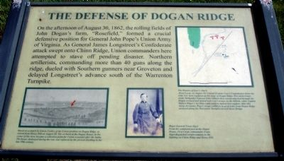 The Defense of Dogan Ridge Marker image. Click for full size.